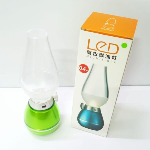 Đèn Dầu LED Điện Tử DPLED LL01 Sạc USB Thổi Hơi Tắt Mở
