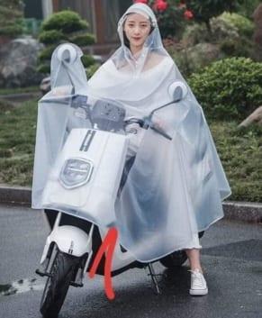 (Tiếng Việt) áo mưa trong suốt cánh dơi