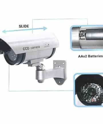 Camera Giả Mô Hình Camera 1:1 chống trộm có LED cảnh báo CA-11S+ tặng Pin chống chảy nước 1800mAh