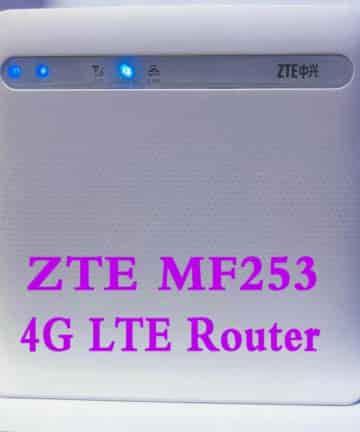 Bộ Phát Wifi 3G/4G ZTE MF253, tốc độ 4G 100Mbps, Hỗ Trợ Tối Đa 32 Kết Nối